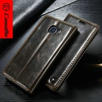 Flip leather case cover for Samsung Galaxy S7 standing case with card slots
