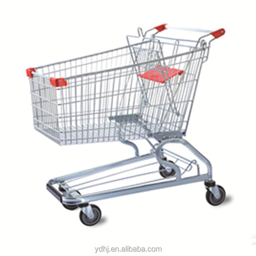 Supermarket Shopping Trolley Manufacturer/shopping trolley four wheels/American style trolley