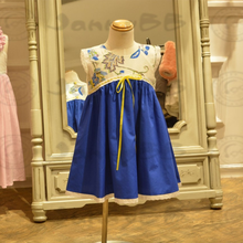 Wholesale 100% cotton customized children frocks designs baby girls dresses
