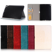 Crocodile pattern leather case for iPad Pro 10.5 with stand function