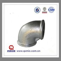 BS malleable iron pipe fittings cast iron galvanized elbow