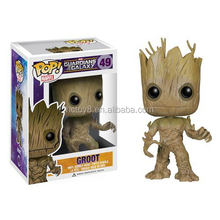 Gzltf Wholesale Funko Pop Guardians of the Galaxy Groot 49# 10cm Vol. 2 Baby Groot With Shield Exclusive Figure