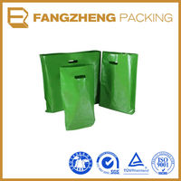 frosted die cut handle plastic bag
