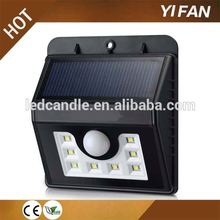 High power IP65 Solar Powered Outdoor 8 LED Motion Activated Detector Sensor Security Garden Light