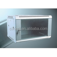 Single Section 600 Width 450 Depth Color Black 6U Wall Mounted Cabinet