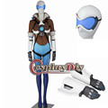 Overwatch Tracer Lena Oxton Cosplay Costume Suit Adult Women's OW Halloween Carnival Cosplay Costume Blue Version