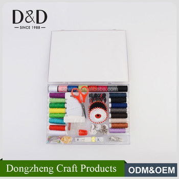 China wholesale travel hotel guestroom cheap mini size novelty sewing kit with box