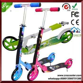 outdoor sports adult 200mm big wheel kick scooter for sale