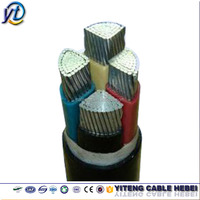 4 core low voltage PVC STA fire resistant aluminum conductor power cable