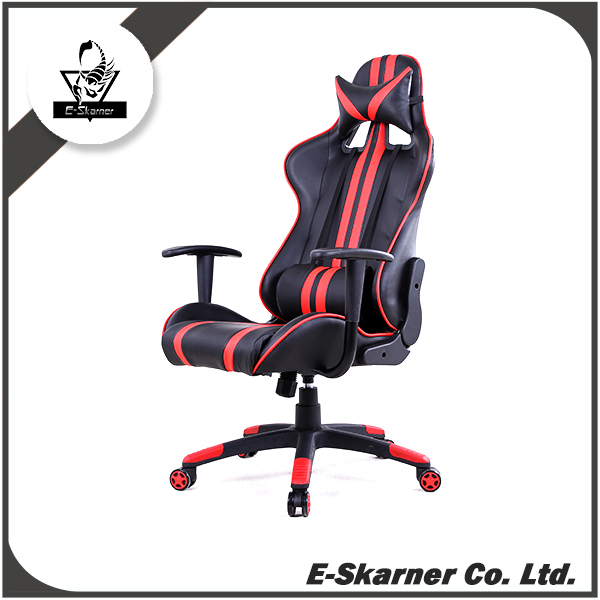 E-Skarner popular red office gaming chair with movable mechanism and fixed base mechanism design