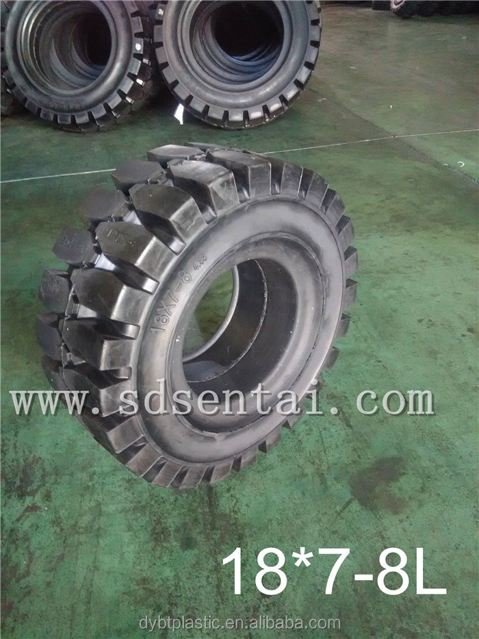 2016 New Products Hot sales 18*7-8 LINDE forklift solid tyres ST-601 Pattern