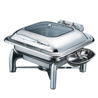 Kitchen Equipment, glass lid hinged lid chafing dish