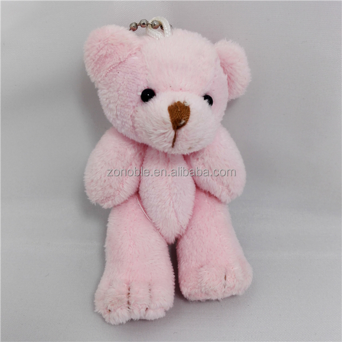 Wholesale cheap small size plush teddy bear keychain custom stuffed plush mini teddy bear