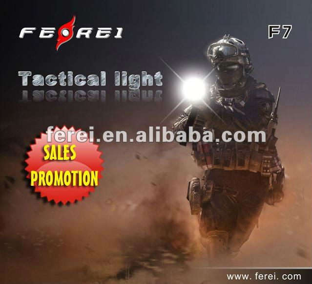 High power Rechargeable tactical gun LED Flashlight F7 with CREE R5