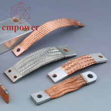 Custom Flexible Copper Ground Strap 25mm Electrical Bus Bar Connector