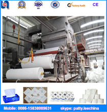 New design 1760mm 5T/D single-cylinder mould and single-wire toilet paper machine, waste paper, cellulose, virgin wood pulp
