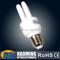 Wholesale hotel 2U 3U shape energy saving light bulbs