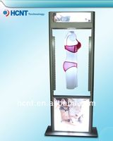 New Invention ! magnetic levitation led display rack for underwear, sexy women without bra photos