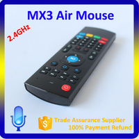 MX3 Air Mouse with Voice Function, 2.4Ghz Mini Wireless Keyboard MX3 Air Fly Mouse
