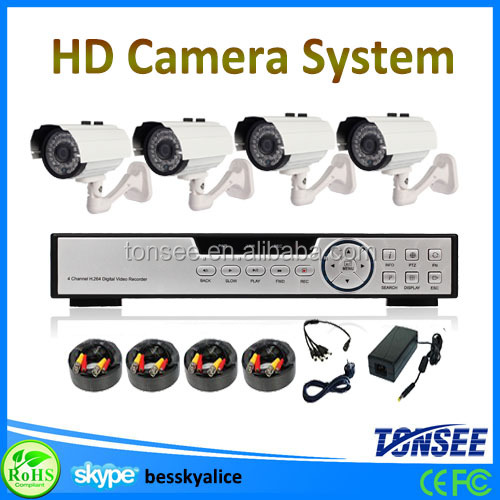 Hot sale cctv camera brand name,4 channel waterproof bullet ahd camera 720p/960p ahd cctv security camera