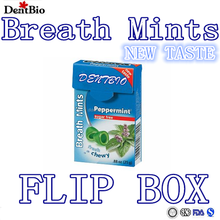 Breath mints sugar free mints custom mints flip box flip pack