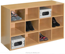 Shoe cubby storage in Shoe racks Wooden Shoe Storage Bench