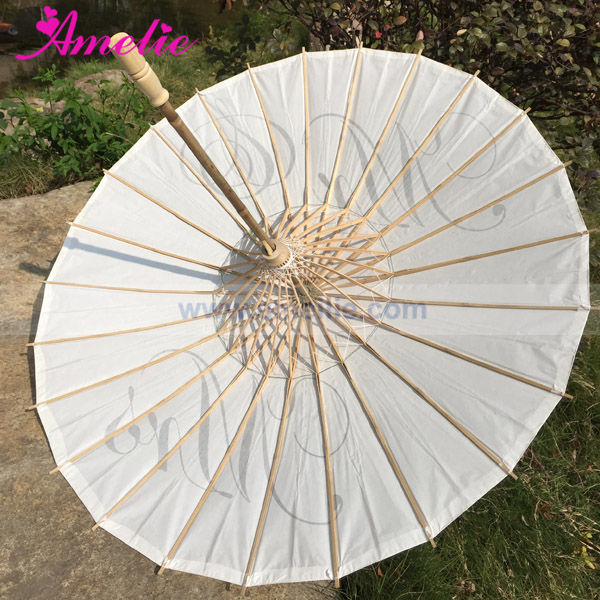 With 10 Years Experience Factory Sell Mr and Mrs Printed Paper Parasol