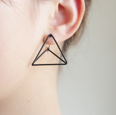 E116   Punk Style Triangle Studs Earrings  wholesale