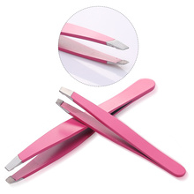Professional eye beauty tools pink color personalized tweezers eyebrow set stainless steel eyebrow tweezers