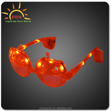 2015 Colorful pumpkin shaped led lighting up sunglasses for halloween party favor