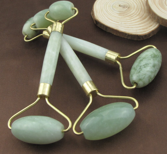 Factory Supply natural jade roller massage double head jade roller wholesale