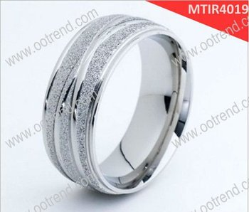 Shiny gold silver brushed party titanium ring ,titanium jewelry of wedding party