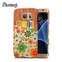 PU leather sublimation flower cell phone cover with card slot