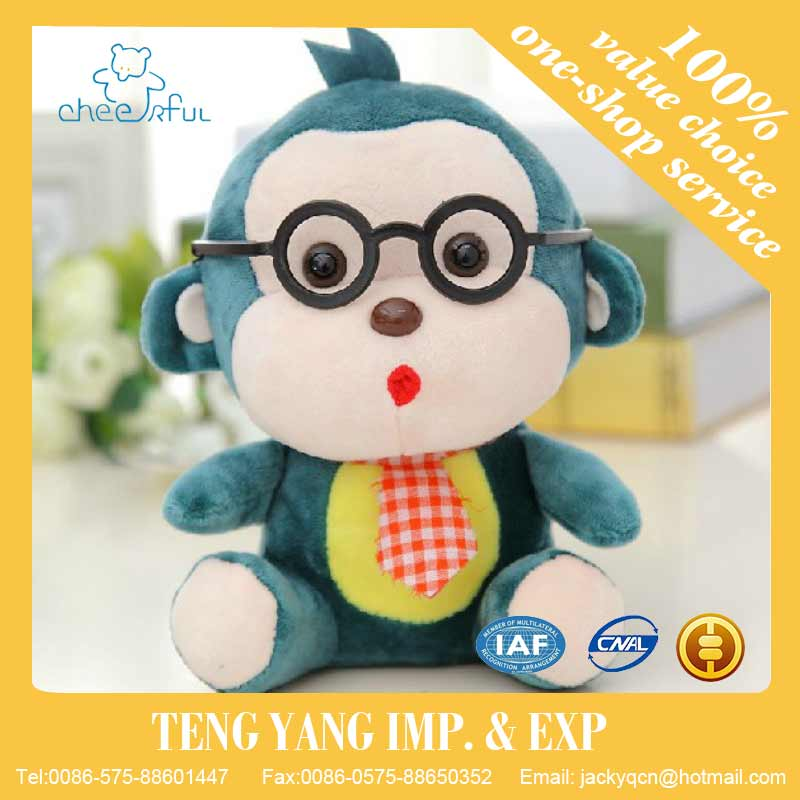 The wedding holiday party Creative Glasses monkey Plush toy Special Throwing small doll Car lovely Pendant Best birthday gift