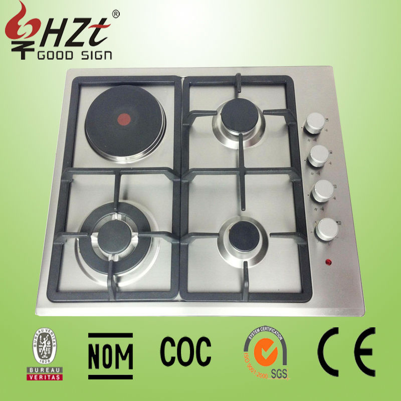 2016 Four burner gas electric combination cookers