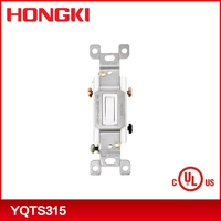 China supplier 15A 120-277V Three Way Toggle Wall Switch YQTS315