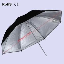 41.3Inch/105cm Pro Photography Studio Reflector Black Silver Soft Diffuser Umbrella for Photo