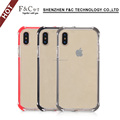 TPU PC case shockproof Transparent Phone Case for iPhone 8