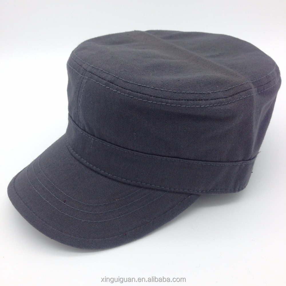 Excellent quality 100% cotton plain dyed military cpas, military style hats and caps