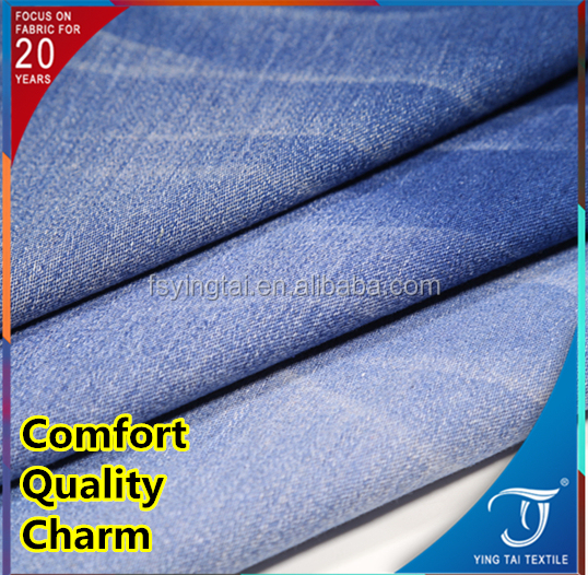 For pant coat jacket super stretch garment washed cotton poly lycra stretch faded textiles polyester spandex jeans cotton fabric