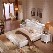 french style white bedroom furniture carved solid wood king beds
