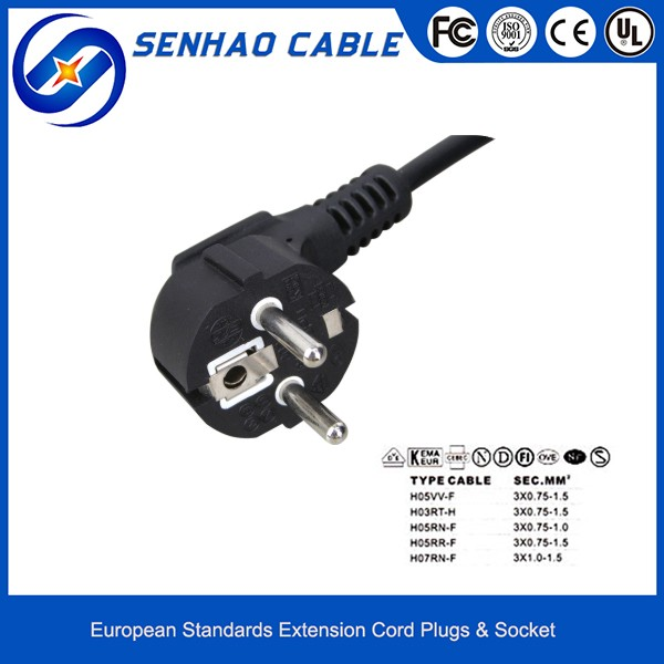 Y003-Z PVC & Rubber AC Power Cord Cable
