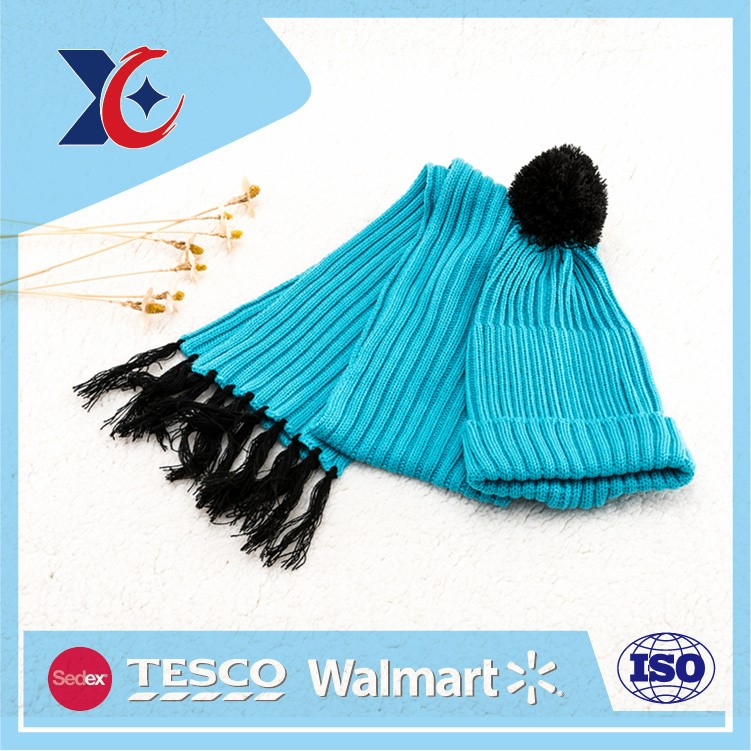 Professional technology design your own knitted hat and scarf set