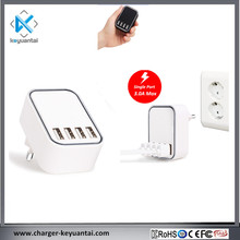 CE SAA KC 2017 new design mobile phone portable 4 port usb wall charger usb travel charger