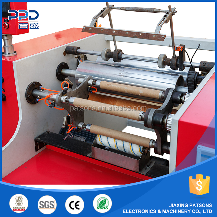 High quality 3 shaft semi-automatic aluminium foil silicon paper winder