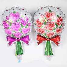 Hot New roses balloon birthday party. Toys cartoon. Wedding marry foil balloons wholesale