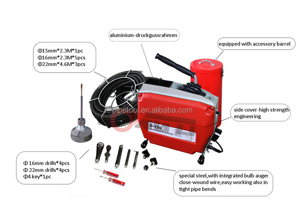 D150-drain cleaning machine /drain cleaner