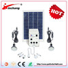 5W poly solar panel with high efficiency inverter emergency light kit for earthquake
