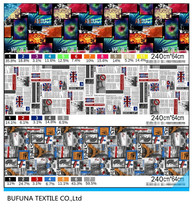 characteristic and fashionable printed textile 100% polyester microfiber fabric for home textile