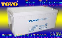 Panasonic gel type deep cycle battery12v200ah for solar system(panasonic model)